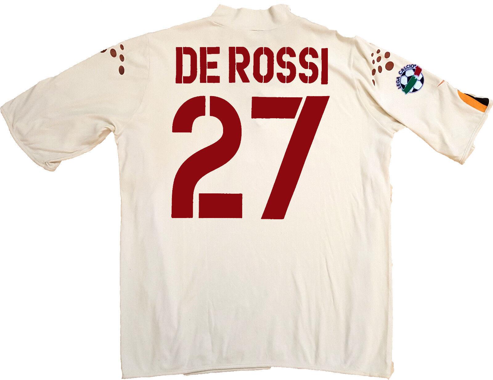 Maglia roma De Rossi 2003 2004 Diadora L mazda Jersey home Original Serie A