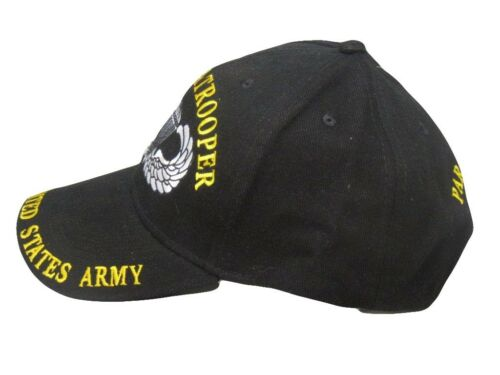 Army Paratroopers Crest Diamond Wings Black Embroidered Cap Hat EE U.S
