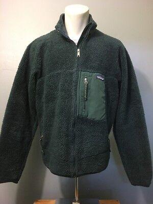 grüne patagonia jacke teddy fleece