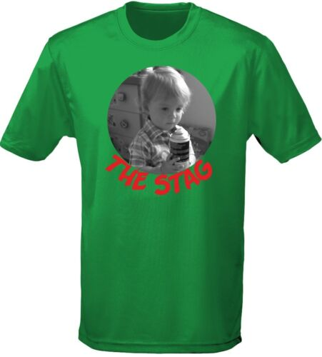 S-3XL Stag Personalised Picture Mens T-Shirt 10 Colours by swagwear