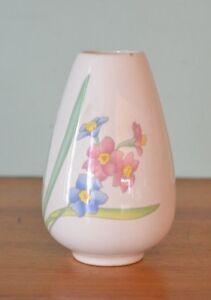 Vintage-ceramic-Vase-blue-pink-flowers-HPT1