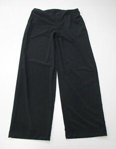 JOY-LAB-Women-039-s-Size-M-High-Waist-Tech-Stretch-Black-Wide-Leg-Twill-Pants