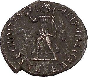 VALENS-034-Last-True-Roman-034-367AD-Ancient-Roman-Coin-Victory-Cult-Angel-i42373