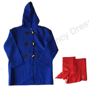 DELUXE CHILDRENS KIDS BEAR DUFFLE COAT & WELLIES FANCY DRESS ...