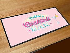 Personalizzato Qualsiasi Nome Cocktail Rosa Bar runner counter tappetino Pub &