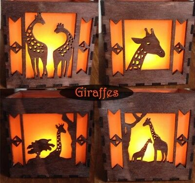 Laser cut tea light holder light box horses unique gift handmade