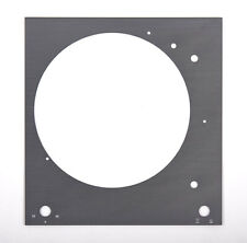 Thorens Plaque Supérieure La platine du plaque frontale TD 150 argent titane