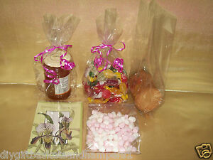 Clear cellophane gift bags wedding sweet cookies easter hampers 12 image is loading clear cellophane gift bags wedding sweet cookies easter negle Choice Image