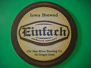 BEER-COASTER-Mat-OLD-MAN-RIVER-Brewing-Co-Einfach-McGregor-IOWA-Since-2011