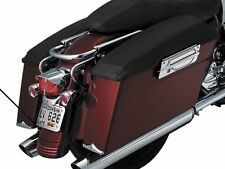 KURYAKYN PLAIN BLK SADDLEBAG LID COVERS FOR HARLEY 4118