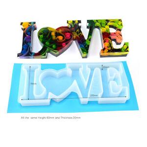Love-Letter-Silikonform-Blumen-Giesform-Schmuck-Anhanger-Mould-Halskette-P-D