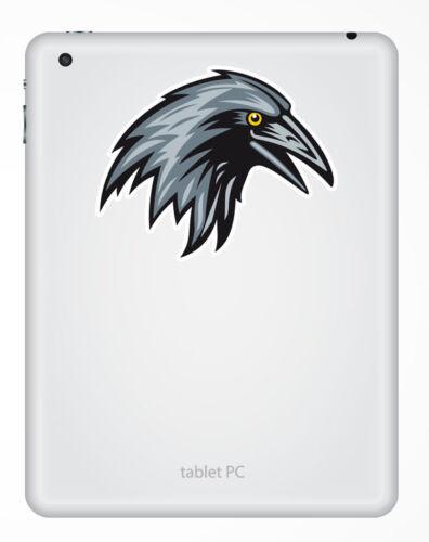 2 x Raven Vinyl Sticker iPad Laptop Helmet Car Bike Crow Blackbird Gift #4505