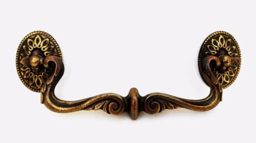 """Brass French Provincial Vintage drawer pull 5/""""centers..antique hardware"""