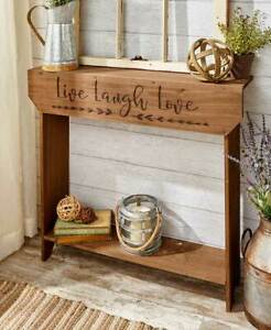 Slim-Country-Wood-Sentiment-Console-Table-Inscribed-w-Family-or-Live-Laugh-Love