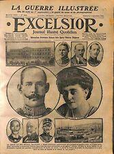 King Constantine Queen Sophia Prince Nicholas & Venizelos Greece Grèce WWI 1916