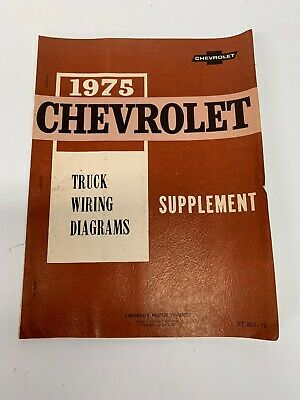 1975 CHEVY TRUCK WIRING DIAGRAMS SHOP SERVICE MANUAL ...