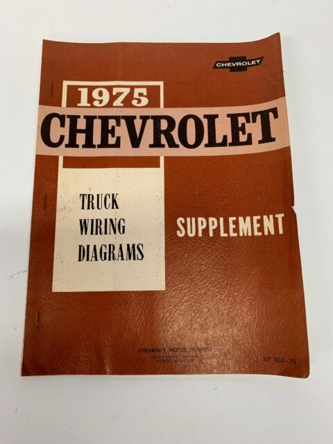 1975 Chevy Truck Wiring Diagrams Shop Service Manual