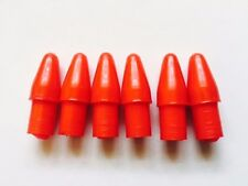 6 x Red Plastic Accessory Endcaps Ulma Vigano Ardor for 12mm Tube PL12 Red