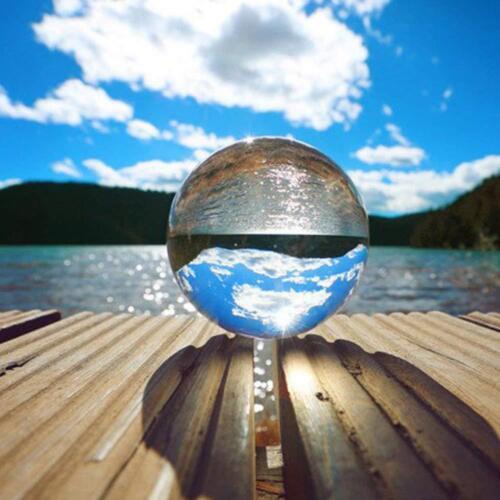 Clear Crystal Ball K9 Photography Lens Sphere Ball Photo Decor Holder 50-80mm