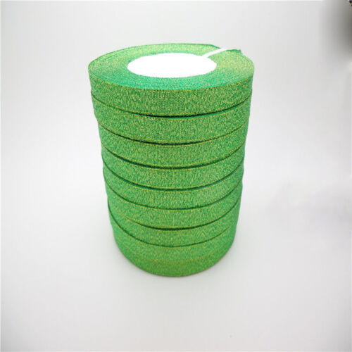 """25Yards DIY 3//8 /""""10mm Glitter Ribbons Bling Bows And Wreaths Decorated Many Pick"""