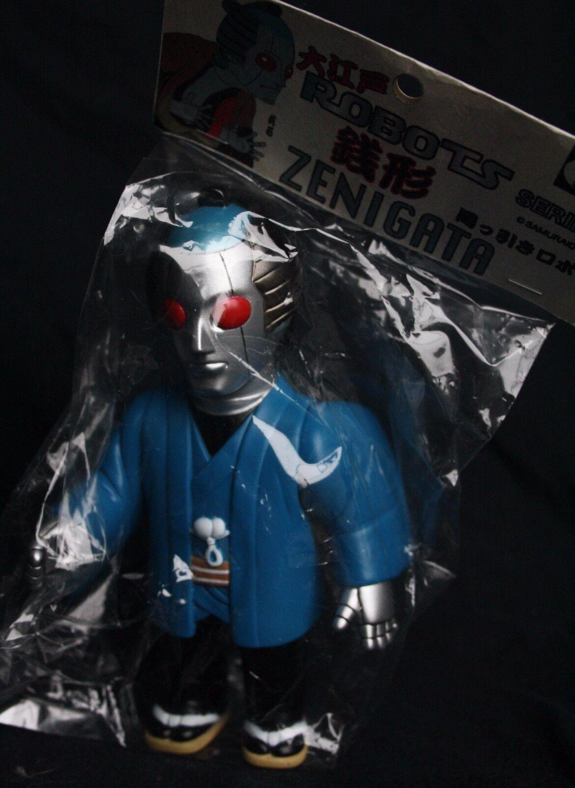 Zenigata robots 6.5 in (approx. 16.51 cm) de alto Samurai Muñeca Menta en caja Japón Mancha Kaiju Pushead Bemon