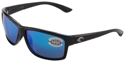 Costa Del Mar Mag Bay Sunglasses AA-11-OBMGLP Black 580G Blue Mirror Polarized