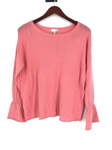 8d2fda49fc5 New Nordstrom s Women s Plus Size Soft Pink Coral Bell Sleeve Pink Sweater  Top