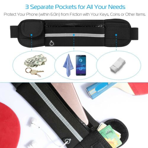 Adjustable Travel Sports Waist Pack Fitness Hiking Running Money Wallet Belt Bag