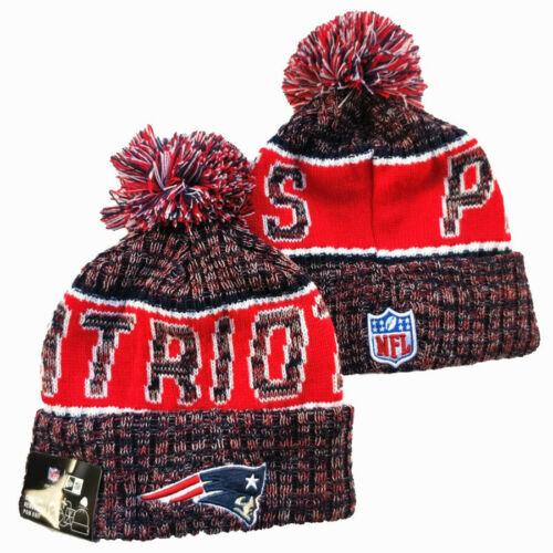 NFL 2020 Unisex New England Patriots Sideline Beanie Fleece lined Sports Knit UK