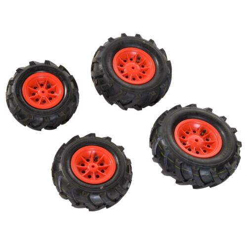 Rolly Toys Luftbereifung Bereifung Reifen Luft Felge Luft-Reifen 4 Stück rot