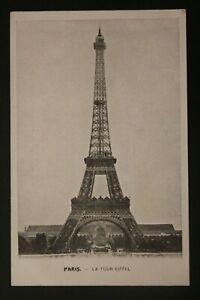 Tarjeta-Postal-Antigua-Paris-la-Torre-Eiffel