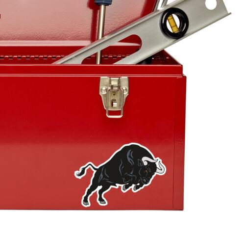 2 x 10cm Black Spanish Bull Vinyl Decal Sticker Laptop Tablet Bike Car Fun #5534