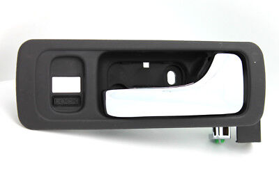 Interior Door Handle For 96-2004 Acura RL Front LH Black bezel with chrome lever