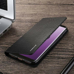 Magnetic-Carbon-Leather-Flip-Wallet-Phone-Case-Cover-For-Samsung-Galaxy-S9-A8-S8