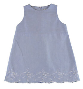 JACADI-Girl-039-s-Trompette-Chambray-Sleevless-Dress-Size-10-Years-NWT-62