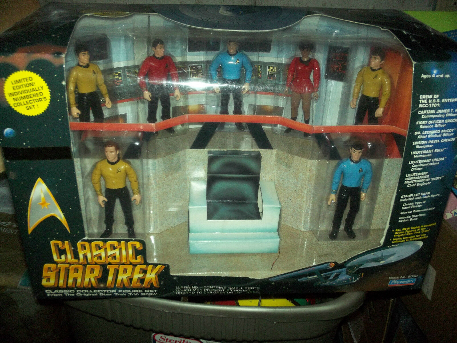 Classic Estrella Trek-USS ENTERPRISE BRIDGE NUEVO capitán Kirk & personal Jugarmates