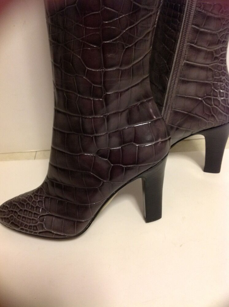 PELLE BOX MODA Stiefel NEW WITHOUT BOX PELLE SIZE 6 M GREY COLOR , FAUX ALLIGATOR SKIN, 076825