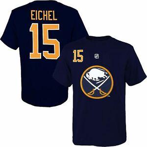 Details about Buffalo Sabres Men's #15 'Jack Eichel' Player T Shirt NHL Reebok Navy Blue