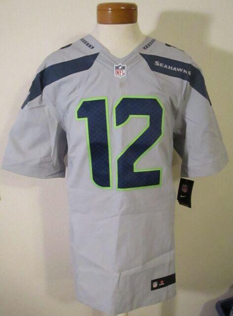 2fe920ec27a NWT Nike Seattle Seahawks  12 FAN Mens Elite Alternate Jersey 52 Grey  MSRP 295