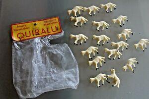 QUIRALU-plastique-Annees-60-sachet-d-039-origine-17-agneaux-moutons