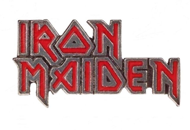Iron Maiden Pewter Officially Licensed Band Logo Pin Alchemy Rocks Metal PC505