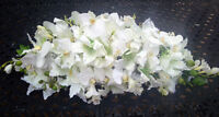 White Swag 36 Lilies Orchids Table Centerpiece Silk Wedding Flowers Arch Decor