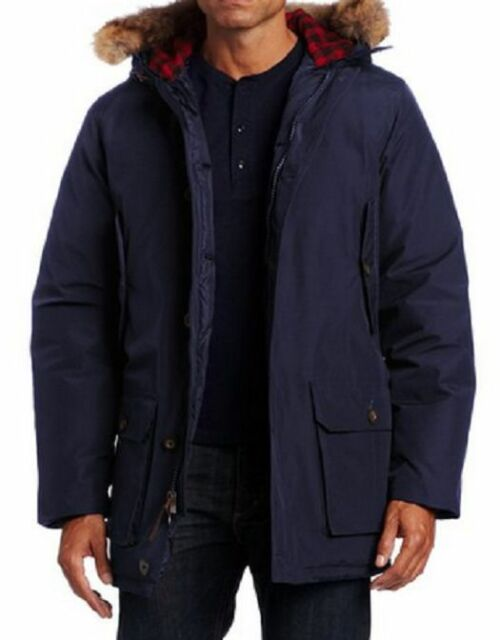 New Authentic Woolrich Mens Navy Arctic Parka Jacket 550 Fill Down 16107 XXL