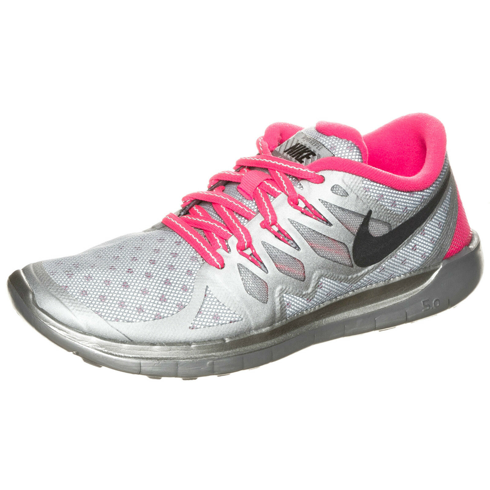 WMNS Nike Free 5.5 Run 5.0 Flash SZ 5.5 Free Reflect SIlver Hyper Pink GS 4Y 685712-001 07821d