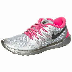 Details about WMNS Nike Free Run 5.0 Flash SZ 5.5 Reflect SIlver Hyper Pink GS 4Y 685712 001