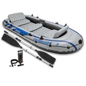 INTEX-Excursion-5-Schlauchboot-Angelboot-Heckspiegel-Aussenbordmotor-68325