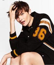 New Superb Women's Zara Wool College Bomber Tokyo Jacket Size M  RRP £99.99