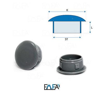 Abdeckstopfen 14x11 mm Anthrazit Blindstopfen Kunststoff Verschlusskappe 10 Stck