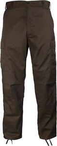 Brown-Military-Cargo-Polyester-Cotton-Fatigue-BDU-Pants