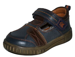 Hush Puppies Boys Navy Leather Fabric  Shoes Various Sizes Catfish